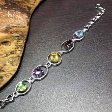五行手鍊(橄欖石/紫水晶/黃水晶/紅石榴/拓帕石)