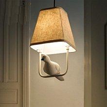 5Cgo【燈藝師】含稅會員有優惠528275212198 設計師餐廳樓梯吧台創意個性兒童房藝術小鳥白鴿子鴨子吊燈-單頭