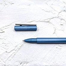 =小品雅集= 德國 FABER-CASTELL 輝柏 NEO 髮絲紋袖珍型 鋼珠筆 深藍(146166)