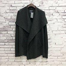 Maple麋鹿小舖 Abercrombie&Fitch * AF 黑色不規則大寬領開襟外套* ( 現貨XXS號 )
