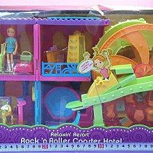 【Mika】Polly 口袋芭莉娃娃 渡假飯店&摩天輪雲宵飛車組(含娃娃乙隻,需郵寄,盒損)*現貨
