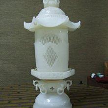 收藏級青海白玉六方塔形宮燈組件