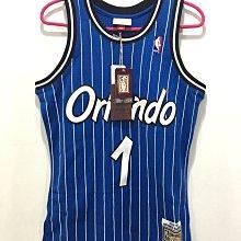 Mitchell & Ness M&N NBA HWC Penny Hardaway 1 哈德威 魔術 客場 藍色 球衣