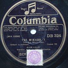Sullivan《Mikado》78轉 10吋 蟲膠唱片 電木唱片