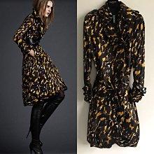 Burberry black label 廣告主打限量款真品長版洋裝式風衣外套 附腰帶 絕美款