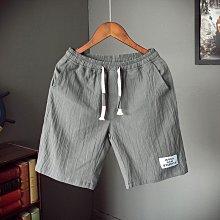 夏季棉麻短褲男加肥加大碼日系潮胖寬松中褲五分褲休閑薄款沙灘褲
