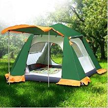戶外野營帳篷全自動3-4人防暴雨防水2人雙人露營釣魚速開裝備用品