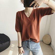 NANAS 【M32105】自留款~chic韓國很百搭軟綿綿V領針織衫 特價 預購