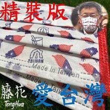台灣國旗口罩 [現貨 開發票] 三層防潑水流行口罩 (10入裝) 潮流口罩 可工業用 花色口罩 花樣口罩 清潔用