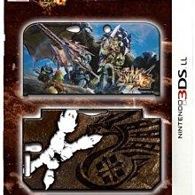 3DS LL /XL通用 日本進口 MH4G 限定款 魔物獵人 4G圖裝 PC保護殼 透明殼【板橋魔力】