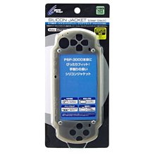 Cyber日本原裝 PSP 3000型專用 主機果凍套 保護套 矽膠套 霧黑款【板橋魔力】