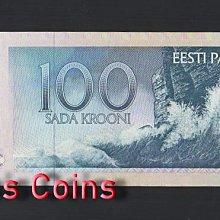 【Louis Coins】B460-ESTONIA--1991愛沙尼亞紙幣,100 Krooni