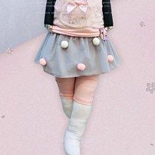 【現貨90】韓國童裝 正韓 Milk bebe 甜美風彩球七分紗裙褲 褲裙