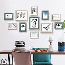 解憂zakka~ 美式相框掛牆組合抽像照片牆多用可擺臺畫框相框牆裝飾掛畫QAT