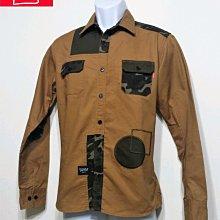 專櫃品牌 SQUAD 沙漠迷彩 軍事襯衫-男款-卡其色-M【JK嚴選】鬼怪