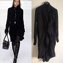 (Sold Out) 義大利真品 Valentino 頂級收藏款羊毛蝴蝶結編織外套罩衫