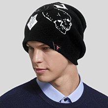 【秋冬帥氣風格 R177  骷髏十字架優質造型毛帽】帽子專賣店