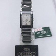 可議價 ORIENT東方錶 女 黑陶瓷白面 石英腕錶 (HM7BC13S) 23mm