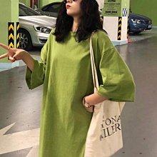 短袖T 春夏韓版寬鬆簡約純色短袖T恤女學院風中長款半袖體恤上衣打底衫   全館免運