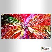 【放畫藝術】純抽象B188 純手繪 橫幅 紅底 暖色系 精選 油畫 無框畫 民宿 餐廳 裝潢 室內設