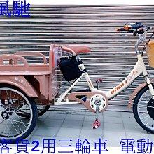新莊風馳豪華三輪車餐車20 吋~~耐重 180 公斤~~營業用電動三輪車~48V800W控制器~載貨坐人2用~可倒退