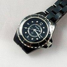 順利當舖  Chanel/香奈兒  29MM J12黑陶瓷女仕錶款