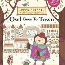 全新 現貨 Peek Street Owl Goes to Town 超可愛翻翻書