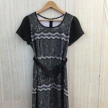 【愛莎&嵐】PS company 女 黑色蝴蝶結腰帶短袖洋裝 (全新) 1100514