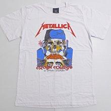 【Mr.17】金屬製品樂團 Metallica 鞭擊金屬 Crash Course 白色短袖搖滾T恤 (KR006)