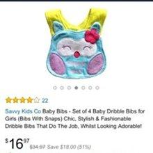 衝好評 Carters Carters 卡特寶寶造型防水加厚口水巾圍兜
