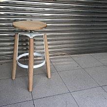 【 一張椅子 】 可升降 北歐無印風實木吧椅