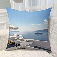 《獨家預購》歐洲風景抱枕定制 聖托里尼島超柔舒適抱枕靠墊 來圖客製化家用聖托里尼島 可來圖訂做 生日禮物bz1820
