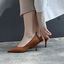 DANDT 真皮尖頭細跟復古單鞋 跟高5cm/7cm (JAN 01) 同風格請在賣場搜尋 REG 或 歐美鞋款