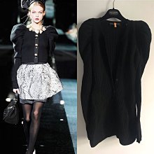 Dolce & Gabbana 義大利真品 頂級收藏款羊毛公主袖外套罩衫