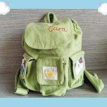 🏆【日本CARA卡拉貓】🏆卡拉貓可愛兒童後背包蘋果綠