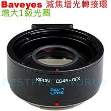 KIPON 減焦增光 Baveyes CONTAX 645鏡頭轉FUJIFILM GFX G 100 中片幅相機身轉接環