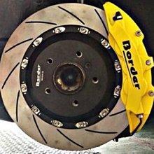【優質輪胎】BORDER鍛造卡鉗+浮動碟盤+來令片(馬2馬3馬5 LIVINA FIESTA TIIDA CX5)三重區