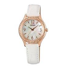 可議價 ORIENT東方錶 女 時尚晶亮 石英腕錶 (FQC10005W) 30.3mm