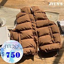 JYUN'S 新品回饋韓版復古簡約純色馬甲女短款學生冬新款百搭背心寬鬆馬夾背心 1色 現貨