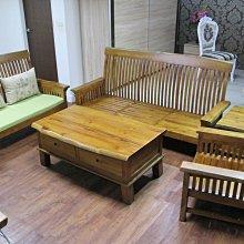 【肯萊柚木傢俱館】(訂製款) 100%老柚木  無貼皮 手工製作 自然邊設計 整套沙發組 限量產品