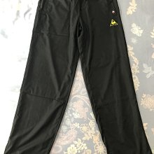 Le Coq Sportif 黑色 抗風 透氣 防撥水 輕量快乾 機能長褲