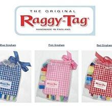 Ginny媽咪 英國手工製造【Raggy-Tag】經典格紋款 高品質標籤安撫巾 三色有現貨