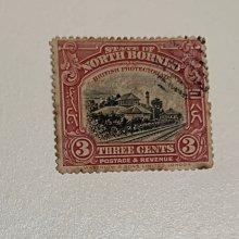 北婆羅洲 State of North Borneo Railroad 3 cents British Protectorate