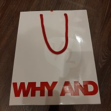 現貨 WHY AND 1/2 專櫃精品紙袋 禮物袋 環保袋 經典白色 尺寸28*22*9CM 狀況良好如照片 可與其他紙袋合併運費