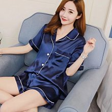 睡衣女夏季新款冰絲短袖薄款韓版網紅女士性感家居服兩件套裝