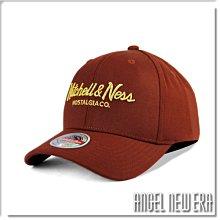 【ANGEL NEW ERA】Mitchell & Ness MN 經典排字 酒紅色 老帽 有彈性 可調式 街頭 潮流