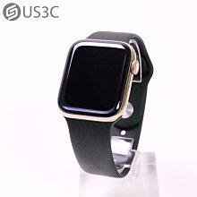 【US3C-台中店】台灣公司貨 Apple Watch Series 6 GPS+LTE 44MM 金色 不鏽鋼錶殼 綠色運動錶帶 原廠保固至2022年