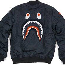 A BATHING APE BAPE BACK SHARK MA1 BOMBER JACKET 鯊魚 教練夾克 外套