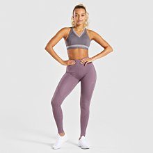 ►瘋狂金剛◄ 板岩紫 GYMSHARK EMPOWER SPORTS BRA 鑲板印花運動內衣