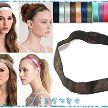 ☆POLLY媽☆歐美進口黑、深咖啡、灰、紫、粉…共13色緞面鬆緊髮帶~寬2cm